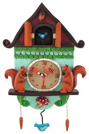 allen designs u0027cuckoo bird u0027 wall mounted pendulum clock