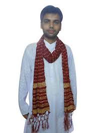 wedding chunni indian kurta chunni dupatta wedding men stole maroon silk groom
