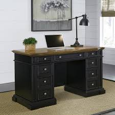 computer table home styles americana black desk with storage 5003 18 the home depot