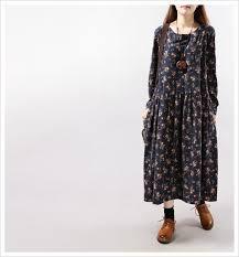 woman dress winter 2015 floral printed long maxi dress casual