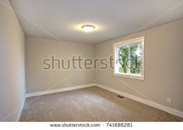 green walls beige carpet water view stock photo 95931679