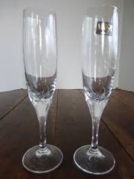 vintage champagne glasses vintage mikasa schott zwiesel crystal petal stem champagne flutes