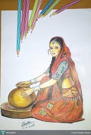 sketch of a rajasthani touchtalent for everything creative