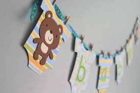 teddy baby shower decorations baby shower banner ideas with teddy baby shower ideas gallery