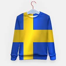 Sweedish Flag Flag Of Sweden Flag Kid U0027s Sweater Live Heroes