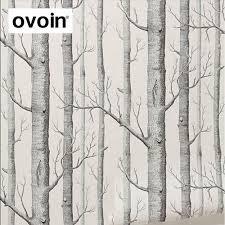 black white birch tree wallpaper for bedroom modern design living