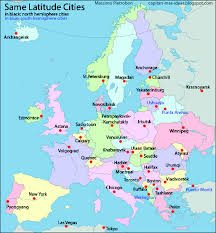 Europe Map Cities by European Capitals Replaced With The Names Of Cities At The Same