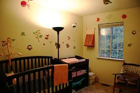 the placement of floor lamp for nursery house lighting