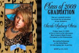 high school graduation announcement turquoise leopard high school graduation invitation card