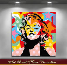 free highest quality monroe pop art oil painting on canvas abstract famous people wall art for home decor in painting calligraphy from home