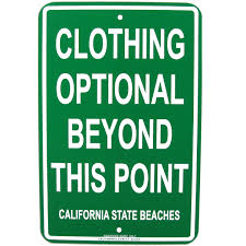 optional beach sign
