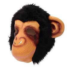 gorilla head mask creepy animal halloween costume theater prop
