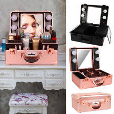 Portable Vanity Table Lighted Makeup Case Ebay