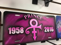 Front Vanity Plates Custom Prince Airbrushed License Plate Personalized License Plate