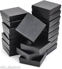 black bracelet box images Lot of 12 black cotton filled box jewelry gift boxes bracelet jpg