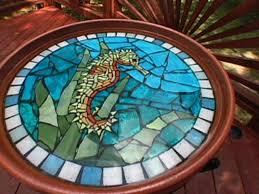 how to make a mosaic table top how to make a mosaic seahorse birdbath hgtv