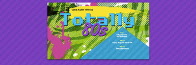 80s theme party guide evite