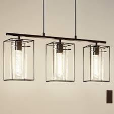 hanging triple pendant light kit lighting eglo loncino triple pendant light in black with smoked
