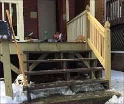 outdoor building exterior steps pvc deck railing 2 step railing