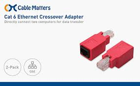 amazon com cable matters 2 pack cat 6 ethernet crossover