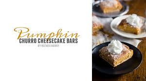 pumpkin churro cheesecake bars nutmeg nanny