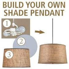 Pendant Drum Light Diy Attaching Light To A Drum Lamp Shade To Make Ceiling Light