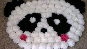 tappeti fai da te tappeto pom pom panda come si fa tutorial