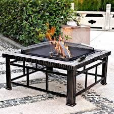 slate fire pit table hudson 30 square slate fire pit table walmart com