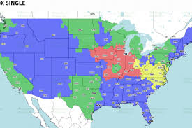 Atlanta On Map by Denver Broncos Vs Atlanta Falcons Tv Broadcast Map Nfl Week 5