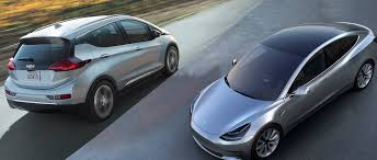 nissan leaf vs tesla chevy bolt equals tesla model 3 minus the hype and two year