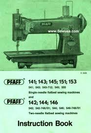 pfaff 145 instruction manual