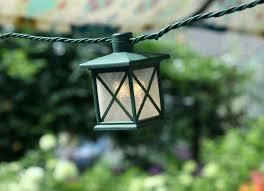 set of 10 colonial lantern led string lights warm white lights