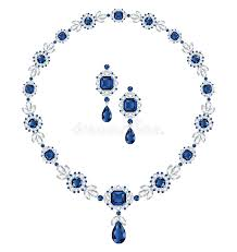 sapphire jewelry necklace images Sapphire jewelry stock vector image of luxurious accessories jpg