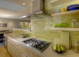Green Subway Tile Backsplash Zampco - Green kitchen tile backsplash