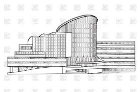 city building sketch isolated vector image 166834 u2013 rfclipart