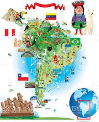 Lima Map South America Cartoon Map Stock Vector Art 472312617 Istock