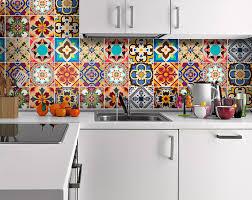 Tile Decals For Kitchen Backsplash Talavera Tile Decals Tile Stickers Talavera Traditional