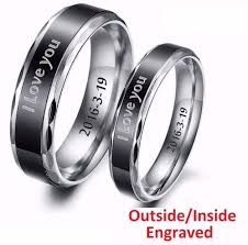 online get cheap couples ring custom engraved aliexpress customized tungsten carbide couple ring personalized engraved lover engagement promise band free shipping china