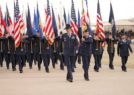 Flag Ceremony Meaning File State And Federal Flags Carried By Air Force Personnel Jpg