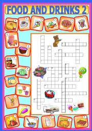 esl kids worksheets food and drinks 2