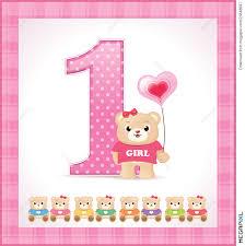 baby girl birthday birthday card for baby girl illustration 23848697 megapixl