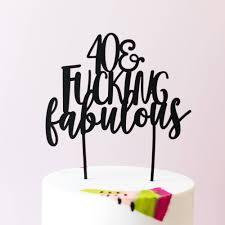 50 and fabulous cake topper 30 40 50 60 70 80 fabulous cake topper laser cut