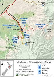 kansas walk in map whakapapa walking tracks walking and tring in
