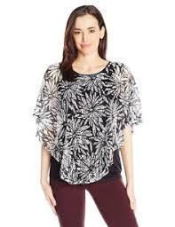 oneworld womens ikat print sheer sleeve top at amazon women u0027s