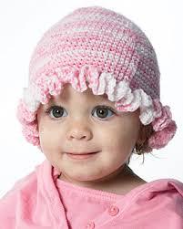 baby ruffle hat crochet pattern favecrafts