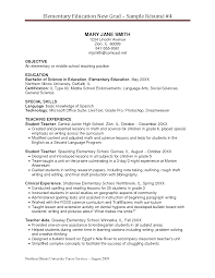 Teacher Experience In Resume Examples Of Elementary Teacher Resumes High Teacher Resume