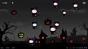 live halloween background hello kitty loft hello kitty halloween live wp