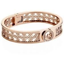 monogram bangle bracelet michael kors gold fulton mk monogram bangle bracelet tradesy