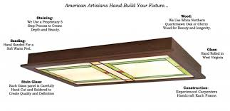 Arts And Crafts Ceiling Lights by Craftsman Style Flush Ceiling Light 510