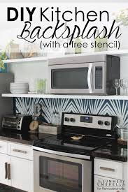 kitchen backsplash diy kitchen remodelaholic diy kitchen backsplash stencil do it